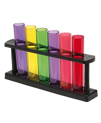 Shotglass Reagensrør (6 stk) Fest og utdrikningslag