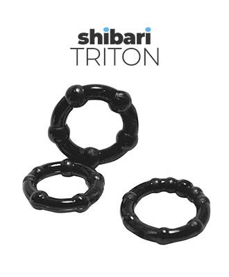 Shibari Triton 3 stk. Penisringer Penisring og -hylser