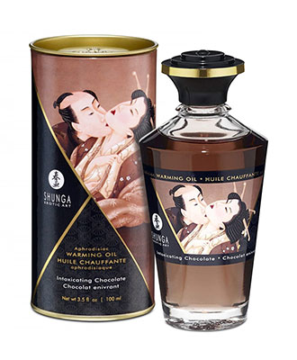 Shunga Aphrodisiac Warming Oil Intoxicating Chocolate Massasjeoljer og -lys