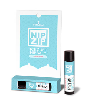Sensuva Nip Zip Ice Cube Nipple Balm - Strawberry Mint Kvinnelyst