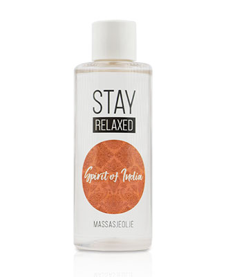 Stay Relaxed Massasjeolje - Spirit Of India 100 ml Massasjeoljer og -lys
