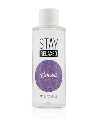 Stay Relaxed Massasjeolje - Naturell 100 ml