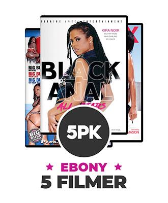 5 stk. assorterte DVD filmer - Ebony