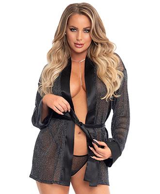 Leg Avenue - Sheer Shimmer Robe