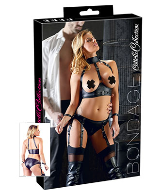 Cottelli Collection - Bondage Sett Black Straps
