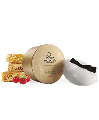 Sunset Glow Kissable Body Powder - Wild Strawberry & Honey