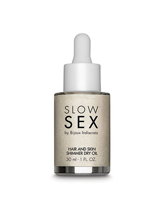 Hair and Skin Shimmer Dry Oil - Slow Sex