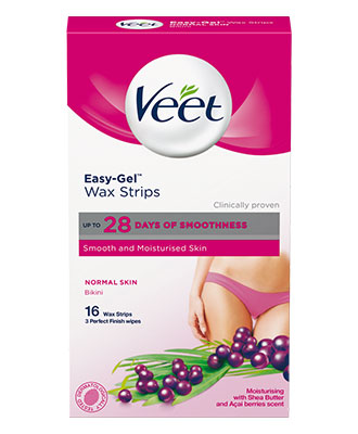 Veet Easy-Gel Wax Strips Normal Skin Bikini (16 stk)
