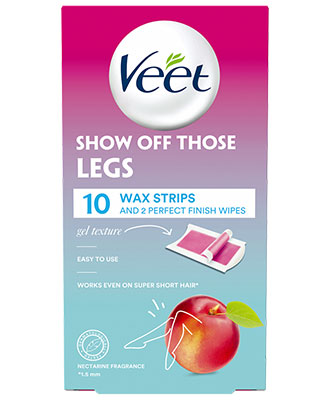 Veet Cold Wax Strips Legs (10 stk)