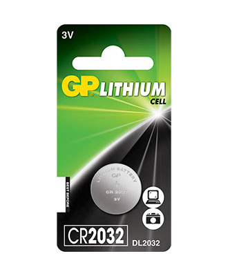 GP Lithium Cell CR2032-batteri, 1 pakk