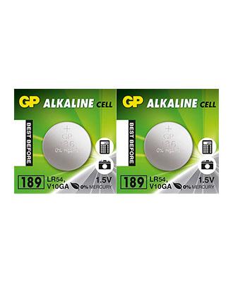 GP Alkaline LR54-batteri, 2 pakk