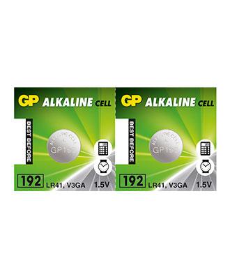 GP Alkaline LR41-batteri, 2 pakk