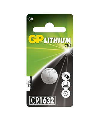 GP Lithium Cell CR1632-batteri, 1 pakk