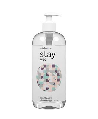 Stay Wet vannbasert glidemiddel 1000 ml