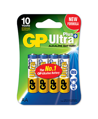 GP Ultra Plus AA-batteri, 4-pakk
