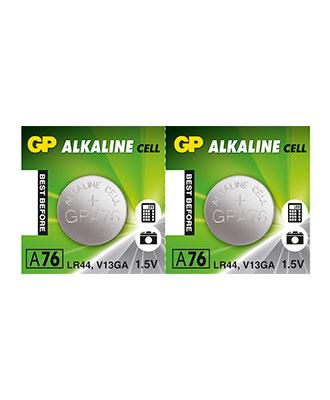 GP Alkaline LR44-batteri, 2 pakk