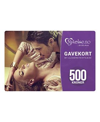 Gavekort fra Nytelse.no - kr 500