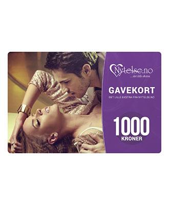 Gavekort fra Nytelse.no - kr 1000