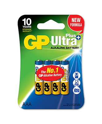GP Ultra Plus AAA-batteri, 4-pakk
