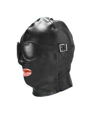 Hette i lær Masker