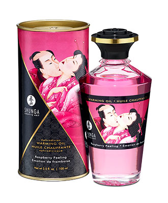 Shunga Aphrodisiac Warming Oil Rasberry Feeling
