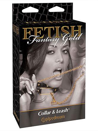 Fetish Fantasy Gold - Halsbånd med lenke Halsbånd