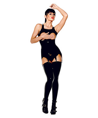 Avanza Wetlook Suspender Top Latex