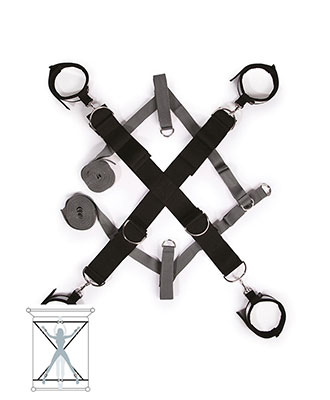 Fifty Shades of Grey - Keep Still - Bed Cross Set Bondageutstyr