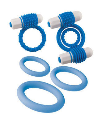 Clitoral Mass Set - penisringer med vibrator