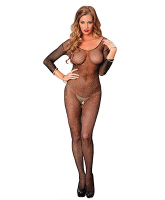 Leg Avenue - Lurex Bodystocking Jessica Catsuit og bodystocking