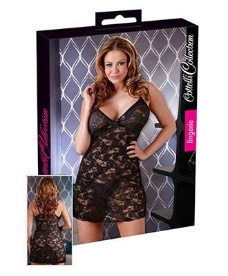 Cottelli Collection - Nattkjole Black Rose Babydoll