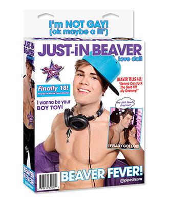 Just-In Beaver (oppblåsbar dukke)