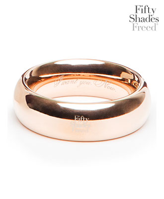 Fifty Shades Freed - I Want You. Now. Steel Love Ring Penisring