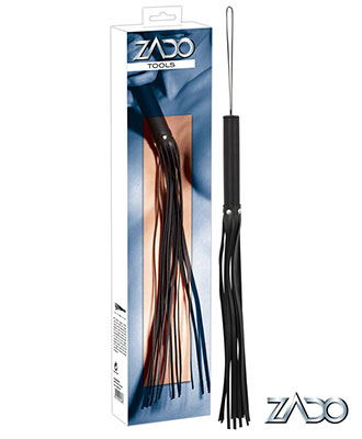 Zado Crystal Leather Flogger (62 cm)
