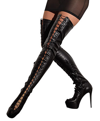 Cottelli Collection - Thigh-high Boots