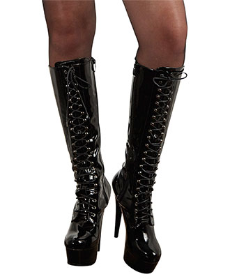 Cottelli Collection - Knee-high Vinyl Boots