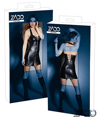 Zado Leather Mini Dress