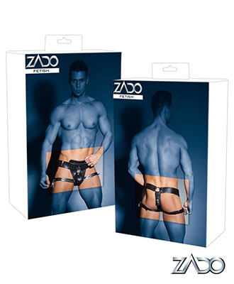 Zado Leather Chastity String Lakk og lær