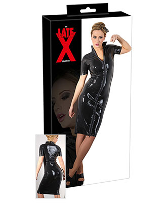 The Late X Collection - Latex Little Black Dress