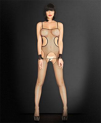 Leg Avenue Kink - Suspender Bodystocking Catsuit og bodystocking