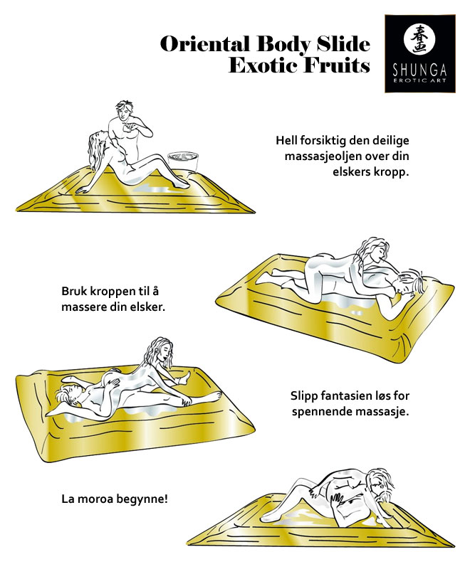Shunga Body Slide Tantrisk Gelemassasje - Exotic Fruits