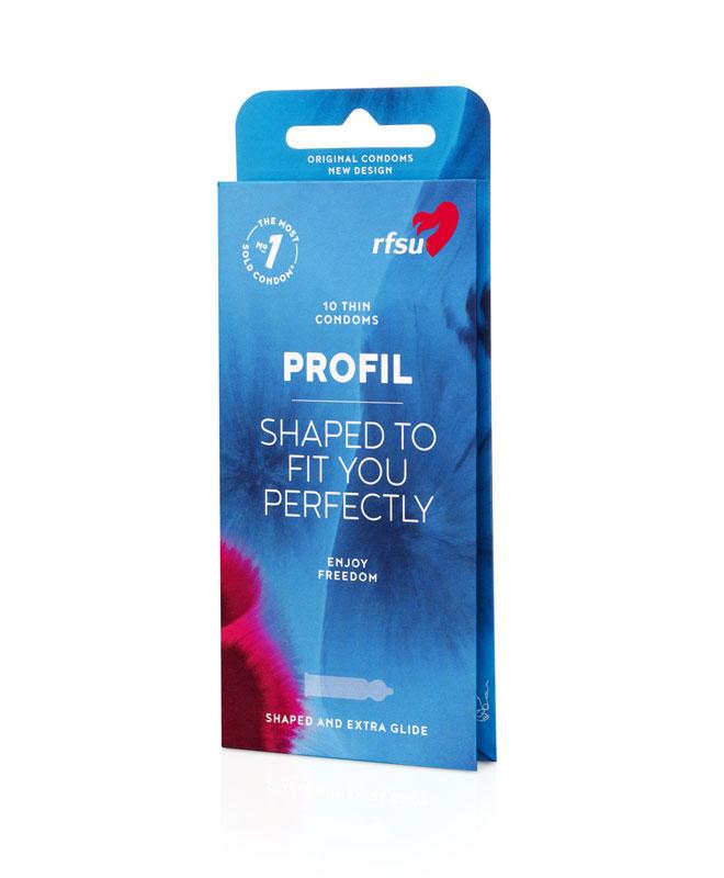 RFSU Profil (skreddersydd), 10 stk. Kondomer & Graviditetstester