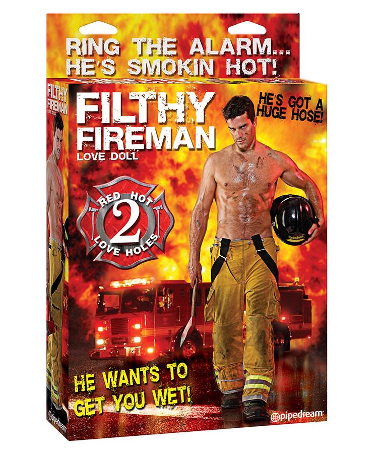 Filthy Fireman (oppblåsbar dukke) Sexdukker