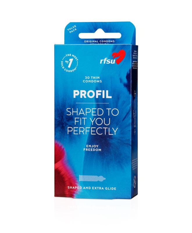 RFSU Profil (skreddersydd), 30 stk. Kondomer & Graviditetstester