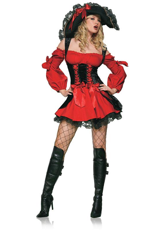 Leg Avenue Vixen Pirate Wench Kostyme Kostymer