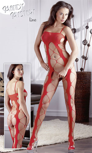 Flame Catsuit - Rød Catsuit og bodystocking