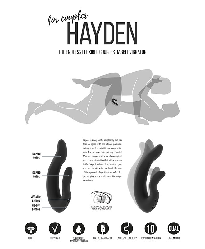 Jil Hayden Fleksibel Parvibrator
